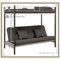 China Hot Sale Home Furniture Cheap Metal Twin Over Futon Full Bunk Bed, Black on sale