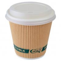 8oz / 12oz / 16 Oz Disposable Coffee Cups With Lids , Sleeve Single Wall Coffee Cups Manufactures