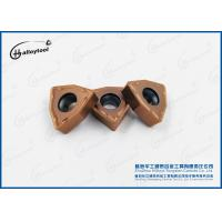Brown Tungsten Carbide Tool Inserts , Cemented Carbide Drilling Inserts Manufactures