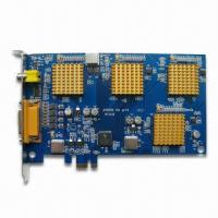 4-channel H.264 CCTV DVR Card with High-quality Picture, Supports IE Browser and 100fps PAL Manufactures
