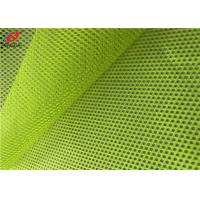 China Reflective Flag Fluorescent Mesh Material Fabric Polyester Uniform Fabric For Vests on sale