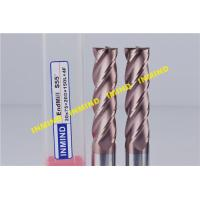 Solid Carbide Milling Machine End Mills Long Shank Type 0.5 UM Grain Size Manufactures
