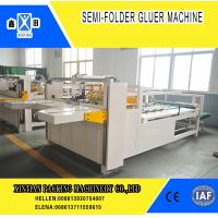 Semi Automatic Paper Folding Machine / Gluing Machine With 260mm Min Feeding Size Manufactures