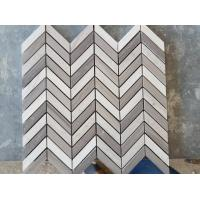 White Arrows Marble Mosaic Tile For Hotel / Restaurant Bathroom Wall Manufactures