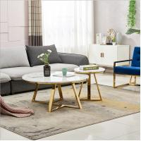 Hot selling Round Center Table Stainless Steel Base Marble Top Coffee Tape Side Table Manufactures