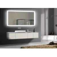 Rectangle Frameless Mirror TV With LED Light Clock , Smart Mirror TV For Hotel Manufactures