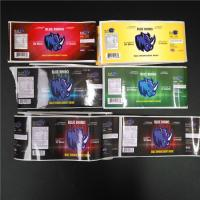 China PVC Transparent Shrink Sleeve Labels Barcode Metallic Holographic For Box / Pill Bottle on sale