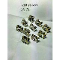 China light yellow cubic zirconia ,5A quality synthetic CZ ,top gold jewelry gems on sale