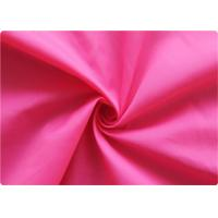 Professional pink Polyester Elastane Fabric Garment Cloth 210-270GSM Manufactures