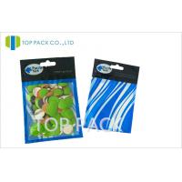 Custom Fishing Lure Bags Three Side Heat Sealed Zipper / Hang Hold Manufactures