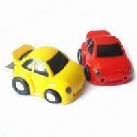 Lovely Car Designed USB Flash Drive, CE-, FCC- and RoHS-approved Manufactures