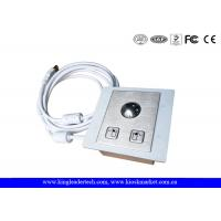 China Panel Mounted Stainless Steel Trackball with Diameter 25mm,Left&Right Click Buttons wholesale