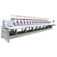 China clothing 18 head Flat-bed high speed Embroidery Machine with Cording device on sale