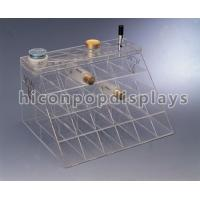 Customized Counter Top Acrylic Cosmetic Organizers With Slot Pocket Manufactures
