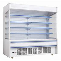 China supermarket air curtain cabinet, multideck open top display chiller, fruit and vegetable open top display cooler on sale