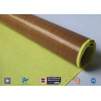 0.13mm Self - Adhesive Tape Brown PTFE Coated Fiberglass Fabric Manufactures