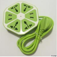 Lemon Shape Smart Power Extension Socket With 4 USB Charging Port , Wifi Electrical Outlet Manufactures