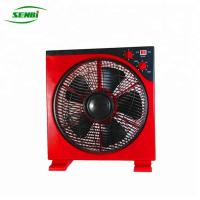12 Inch Small Solar Powered Box Fans Air Cooling With 0-60 Min Timer Manufactures