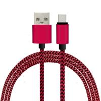 1M Fabric Nylon Braided Micro Flexible USB Cable for Samsung / Blackberry