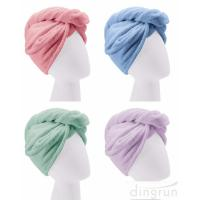 Custom Wholesale Fast Dry Absorbent Wrapped Twist Microfiber Hair Turban Towel with Buttons Manufactures