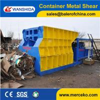 Container Type Horizontal Scrap Metal Shear to cut waste copper & aluminum with customized feeding mouth size Manufactures
