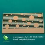 Metal aluminum engraving screen panel laser cutting facade panel home decoration Manufactures