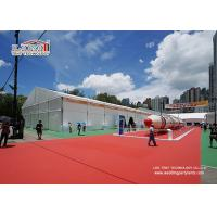 China 40M Wide Outdoor Event Tents Plain White PVC Roof Cover For Exhibition on sale