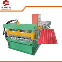 High Speed 18m / Min Roofing Sheet Making Machine With Hydraulic Cutting Machine Manufactures