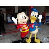 China resin Mickey Mouse and Donald Duck figurine on sale