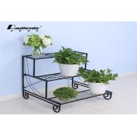 Removable three layers of simple flower iron multilayer floor type flower pot green space European storage rack Manufactures
