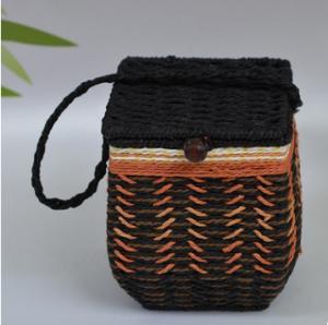 China 2016 Hot sale Europe Style Paper Rope Mini Basket, tea packing basket, storage basket on sale