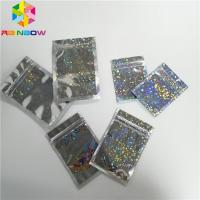Hologram Foil Pouch Packaging Heat Seal Star Flash Mylar Plastic Three Side Seal Zipper Bag Manufactures
