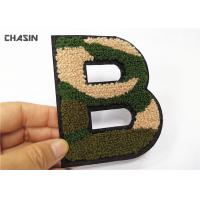"""Buy cheap Camouflage Letter Chenille Towel Patches Sew - On Backing 4.5"""" Tall from wholesalers"""