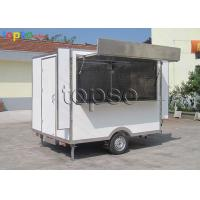 Stable Snack Mobile Cooking Trailer Non - Slip Flooring For Tourism Spots Manufactures