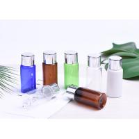 15ML Plastic Cosmetic Bottles , BPA Free Empty PET Bottle With Aluminum Lid Manufactures