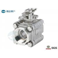 China CF8M Full Port 3 Piece Ball Valve With 1000 WOG Threaded Connection Ends on sale