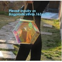 China handbags pvc shoulder bag for ladies zipper waterproof pvc bag, transparent PVC shoulder bags, fashion laser handbag PVC on sale