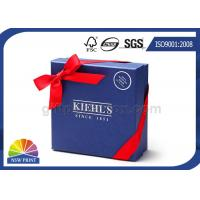 Custom Logo Cardboard Paper Rigid Gift Box Ribbon Bowknot Decorated SGS Approval Manufactures