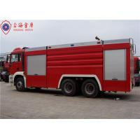 6x4 MAN Chassis Water Vacuum Tanker Fire Truck With Direct Injection Diesel Engine Euro 4 Emission Manufactures