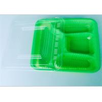 Four Compartment PP Food Tray Food Takeaway Packaging For Dinner , Ce Certificate Manufactures