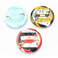 Dia 35 - 45mm Round Metal Tin Containers For School Kids / Holiday Gift Packing Manufactures