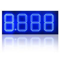 China Blue Light 7 Segment Gas Station Led Gas Price Sign Display on sale