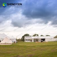 China Big aluminium tent with double coated PVC clear transparent covers for event, party, wedding, exhibition on sale