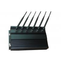 High Power WIFI 2G / 3G Cell Phone Jammer with Cooling Fans , 6 Antenna Manufactures