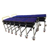 Skate Wheel Flexible Roller Conveyor Customized Size High Efficiency Manufactures