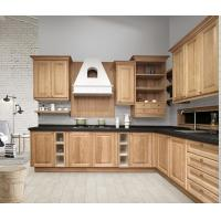 Solid Wood Complete Kitchen Cabinet Set Aluminium Profile Handle 18mm MFC Borad Manufactures