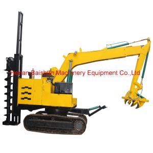 YTO Tractor Power Pole Erection Machine Auger Crane Pile Driver Manufactures