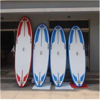China Soft Top Touring Stand Up Paddle Board , Air Sup Board Double Wall PVC Fabric Material on sale