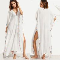 Buy cheap Bohemian White Lace-up Long Summer Beach Cover Up Dress with Split from wholesalers