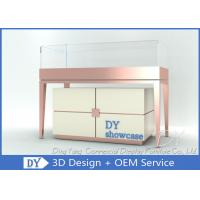 Classical Jewelry Shop Counter / White Jewelry Store Display Cases Manufactures